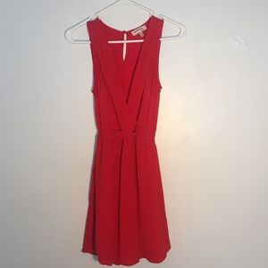 Red Monteau Crepe Dress